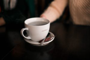 photo of coffee cup at peer support group